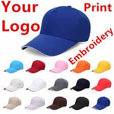 1 <b>Pcs Custom Cotton</b> Baseball Cap Print Logo Text Photo ...