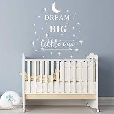 Dream Big Little One Wall Decal, Wall Sticker Quote ... - Amazon.com