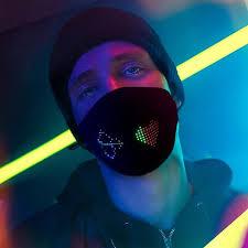 <b>Bluetooth Editing LED Luminous</b> Mask Display Screen Personalized ...