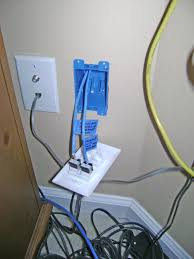 how to install an ethernet jack for a home network pulling cable ethernet jack inserted into the wall plate