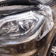 <b>Защита передней части</b> Mercedes GL антигравийной пленкой ...