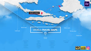<b>World Travel Maps</b> - Middle East and Asia by SOUTH11 | VideoHive