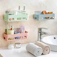LanLan <b>Bathroom Shelf Adhesive Badkamer</b> Rek Storage Rack ...