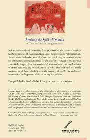 breaking the spell of dharma and other essays a case for n breaking the spell of dharma back jpg