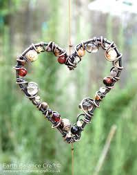 Earthy <b>Love Heart</b> Suncatcher | <b>Crafts</b>, <b>Heart crafts</b>, Diy gift box