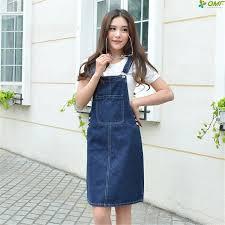 S 4xl <b>Korean Denim</b> Ladies <b>Dress</b> Big Pocket Casual Spaghetti ...