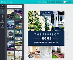 how to create stunning real estate flyers canva pipeline roi step 2 of how to create a real estate flyer in canva picking a layout