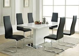 Black Leather Dining Room Chairs Modern Black Leather Dining Chairs Home Cool Unique Dining Table