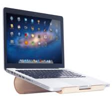 SAMDI Birch Wooden <b>Laptop Desktop Stand Holder Bracket</b> Dock ...