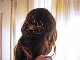 <b>DIY Fashion</b>: Wire Flower <b>Hair</b> Piece - College <b>Fashion</b>