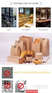<b>100pcs Kraft Paper</b> Bags Food Tea <b>Small</b> Gift Bags Sandwich Bread ...
