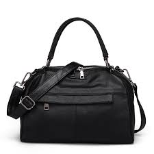 <b>2019 New Women Genuine</b> Leather Boston Bag Europe Style ...