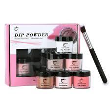 TP <b>7pcs</b>/<b>box 6 Jar</b> 28g Nail Dipping Powder + Brush Kit No Lamp ...