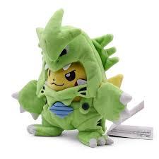 <b>Anime</b> Pikachu Cosplay Tyranitar Pikachu Peluche Plush Stuffed ...