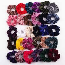 Summer <b>Chiffon Floral</b> Fabric Scrunchie Women Lady Girls <b>Elastic</b> ...