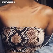 <b>Sexy</b> Snake Skin Print Tube Top 2019 New <b>Fashion Women</b> ...