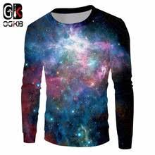 OGKB Новое поступление 3D свитшоты с принтом <b>Galaxy свитер</b> ...