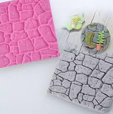 Cobble <b>Stone</b> Brick <b>Rock Wall Pattern</b> Silicone Mold Quality Silicone ...