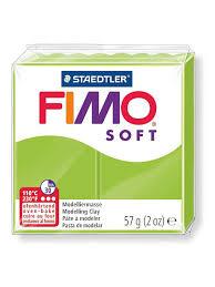 Полимерная <b>глина</b> Soft 57 <b>гр</b>., цвет светло-зелёный FIMO ...
