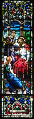1000 images about stained glass windows church jesus at home of martha mary windows tells the story of one of three references in bible to women washing the feet of jesus because we see no bottle of