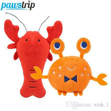 <b>pawstrip 1pc</b> Soft Plush Dog <b>Toys</b> Cartoon Lobster Crab Dog Sq...