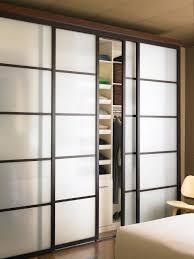 Sliding Door Bedroom Furniture Closet Sliding Door With Square Design At Your Bedroom Utility