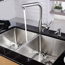 undermount kitchen sink stainless steel: discontinued  inch undermount double bowl stainless steel kitchen sink with kitchen faucet and soap