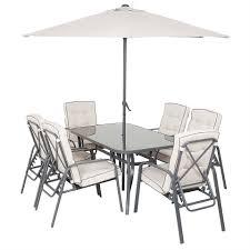 Rowly <b>8 Piece Garden</b> Dining Set   Homebase