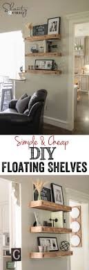 chic large wall decorations living room: love this create a fake sofa table by building a shelf behind your sofa great for small living rooms if you need space to add lamps decor