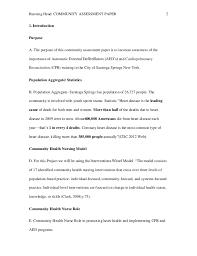 Community Assessment Paper CPR        Running Head  COMMUNITY ASSESSMENT PAPER
