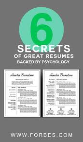 17 best ideas about professional resume design cv 6 secrets of great resumes backed by psychology resume infoprofessional resume templateresume