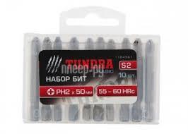Купить Набор <b>бит</b> Tundra PH2x50mm 10шт 1124361 по низкой ...