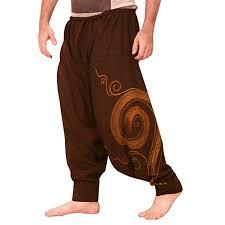 Men's Hippie Yoga Harem <b>Pants Vintage Cotton</b> Blends <b>Linen</b> Drop ...