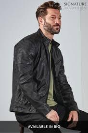 <b>Mens</b> Biker <b>Jackets</b> | Leather & <b>Faux Leather</b> Biker <b>Jackets</b> | Next UK