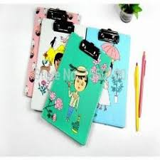 4pcslot new fashion a5 leather clip board cute file clipboard with hook portable writing pad stationery a5 clipboard clip boards
