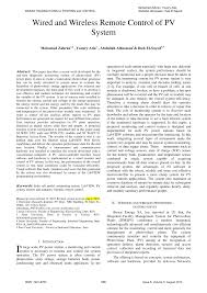 (PDF) Wired and <b>wireless remote control</b> of PV system