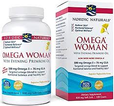 Nordic Naturals, <b>Omega Woman, With</b> Evening Primrose Oil, 830 mg ...