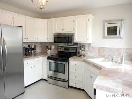 painted kitchen cabinets vintage cream: white kitchen cabinets and countertops images