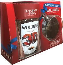 <b>Кофе растворимый Wollinger 3D</b> с кружкой 95г/6шт ...