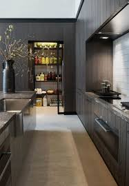 upper kitchen cabinets pbjstories screenbshotb: garde manger de design moderne dans la cuisine en bois noir avec carrelage blanc et