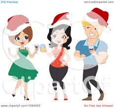 christmas party clipart clipart kid christmas party clip art clipart man and women talking at a christmas