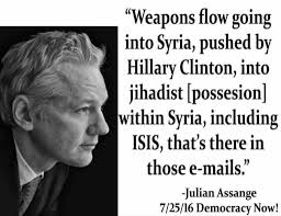 Image result for Assange and Hillary dirty tricks