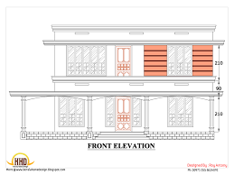 d house plan   Sloping Squared roof   Kerala home design and      house plans in d drawings   square house elevation   March