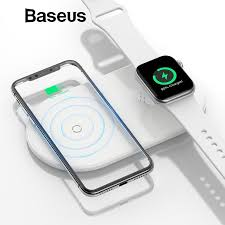 <b>Baseus 2 in</b> 1 Wireless Charger For iPhone & Apple Watch – iWatch