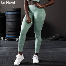 New Green Camo Seamless <b>Leggings Sport Women Fitness</b> Gym ...