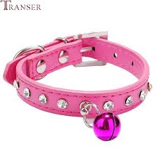 Transer Pet Dog Supply <b>Adjustable PU Leather</b> Crystal Rhinestone ...