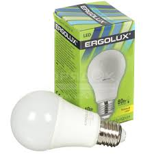 <b>Лампа светодиодная Ergolux LED-A60-10W</b>, 10 Вт, E27, теплый ...