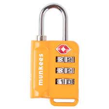 <b>Munkees</b> Cable <b>Combination Lock</b> - Orange - Orange 63mm x 30.1 ...
