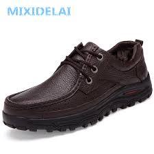 <b>MIXIDELAI Genuine Leather</b> Warm Men Boots Large Size 48 ...