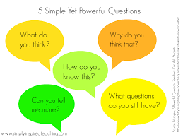 5 simple but powerful questions for any content area simply 5 simple questions
